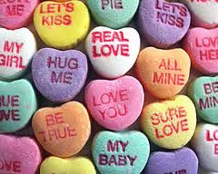 Image result for candy heart messages