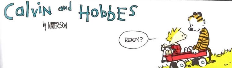 Calvin and Hobbes header
