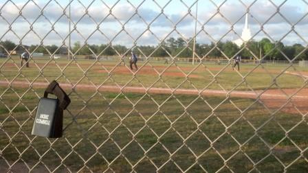 Cowbell at baseball game