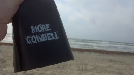 Cowbell at the beach