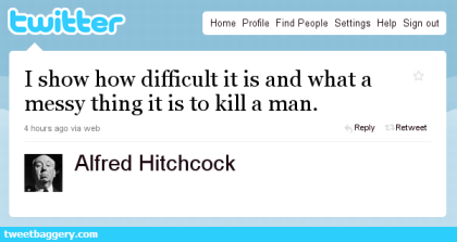 Fake Tweet Image from Hitchcock