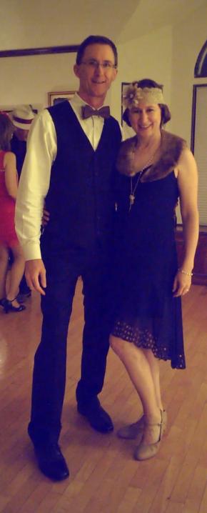 Julie & husband dressed up