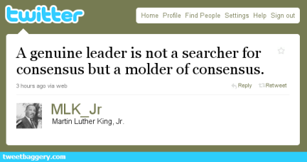 Fake Tweet from MLK Jr.