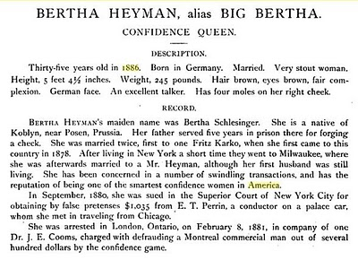 Article re Bertha Heyman