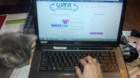 WANA Con on my laptop