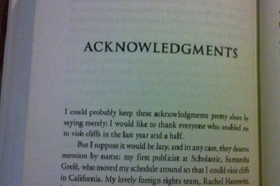 Acknowledgements Page