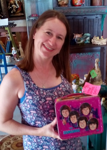 Julie with Osmonds lunchbox
