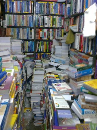 Books on shelves & stacks
