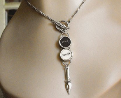 Wordsmith necklace with pen pendant
