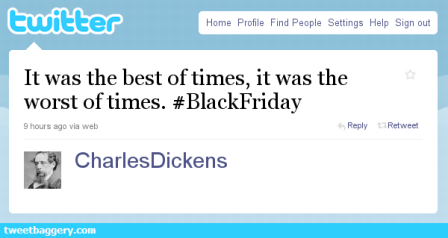 Dickens Fake Tweet